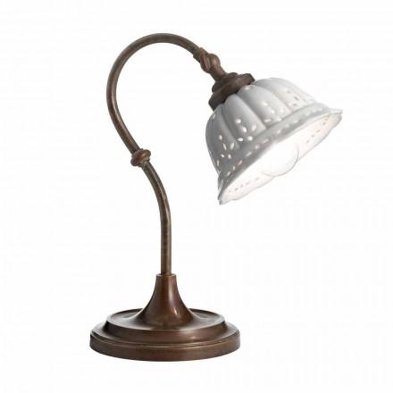 Lampe de table en céramique de style liberty Anita Il Fanale