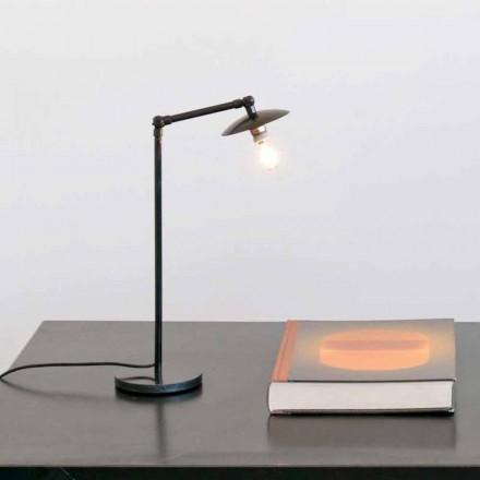 Lampe de table en fer avec lumière réglable Made in Italy - Amino
