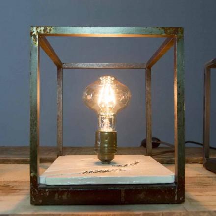 Lampe de table en fer et céramique fabriquée à la main en Italie - Floria