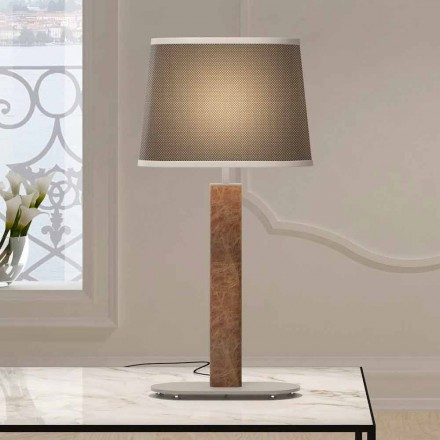 Lampe de table en métal avec abat-jour en tissu Made in Italy - Jump