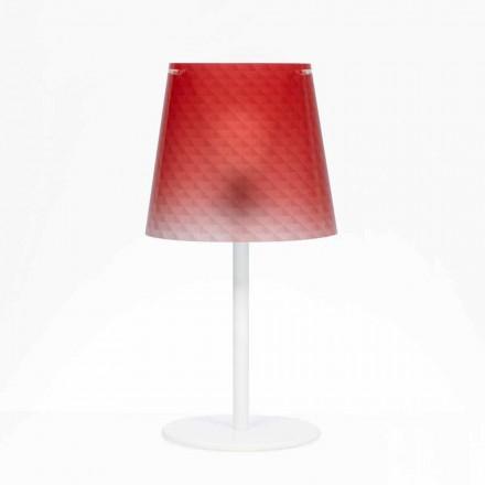 Lampe de bureau polycarbonate dècoration de diamants, diam.30cm Rania