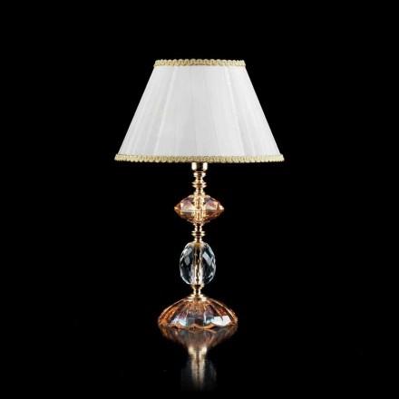 Lampe de table en cristal et verre Belle, faite en Italie