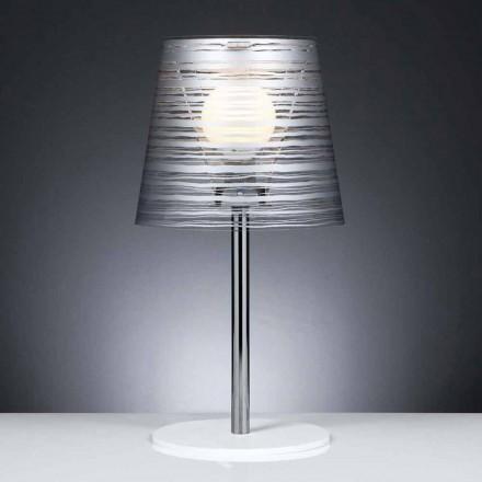 Lampe de bureau moderne avec décoration argent, diamètre 30Cm, Shana