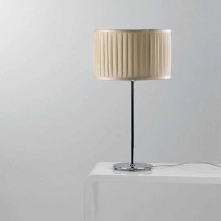 Lampe de table moderne en soie couleur ivoire Bamboo