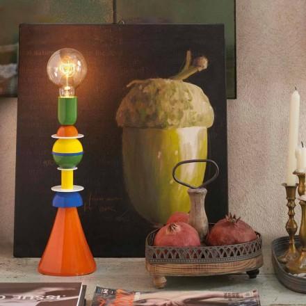 Lampe de table multicolore en aluminium Slide Otello, fabriquée en Italie