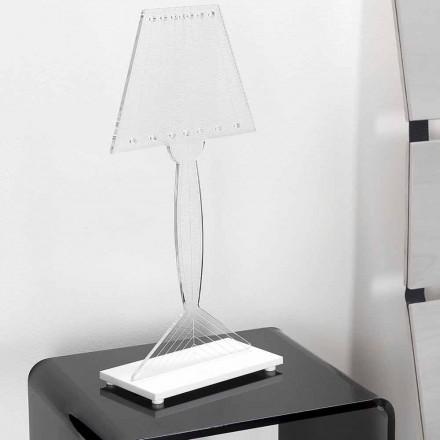 Lampe de table moulée en plexiglas, lumière LED, Ferla