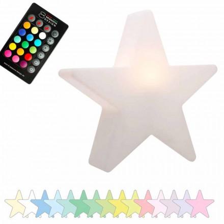 Lampe de table solaire ou LED, design étoile en polyéthylène - Ringostar