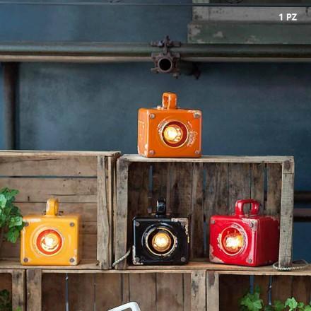 Lampe de table style industriel en céramique e t fer Valerie