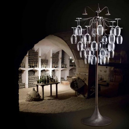 Lampadaire de design moderne avec 30 verres Sauvignon