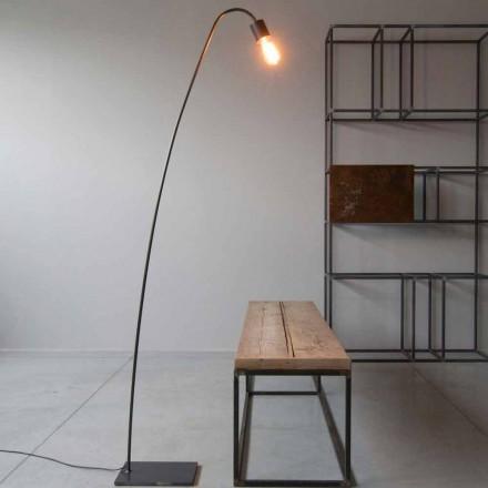 Lampadaire Design Artisan en Fer Noir Fabriqué en Italie - Curva
