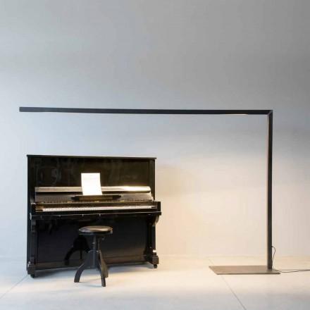 Lampadaire design en fer noir avec barre LED Made in Italy - Barra