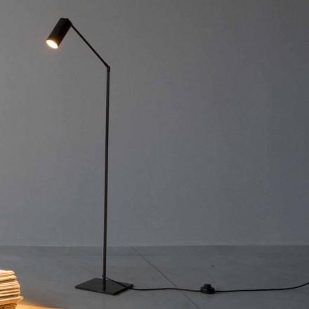Lampadaire en fer et aluminium avec éclairage réglable Made in Italy - Farla
