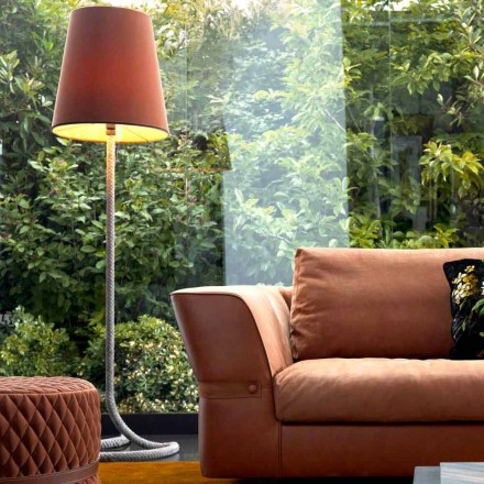 Lampe de sol design  Grilli Zarafa en métal et tissu made in Italy