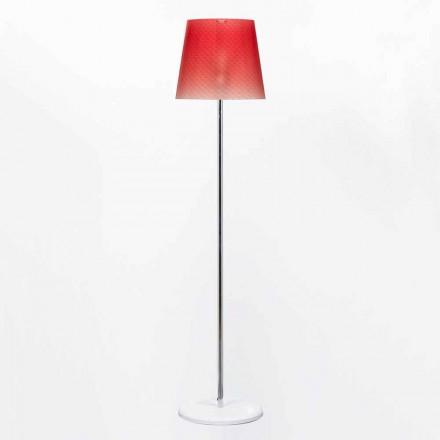 Lampe du sol en polycarbonate de design, diamètre 42 cm, Rania