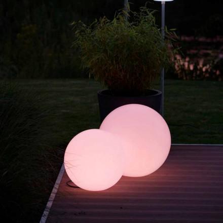 Lampadaire LED multicolore en polyéthylène blanc, design rond - Globostar