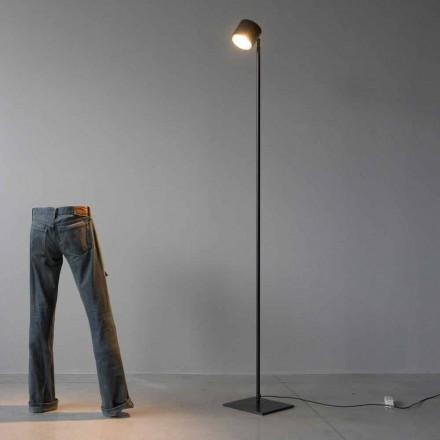 Lampadaire Minimal en Fer et Aluminium Noir Fabriqué en Italie - Osiris