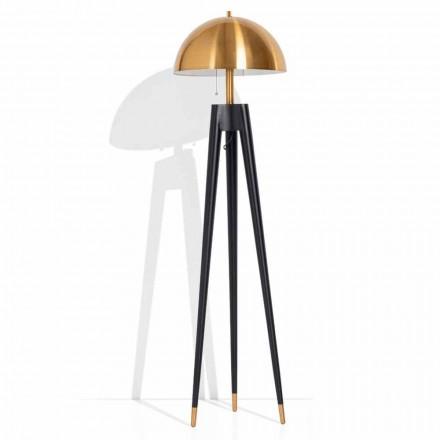 Lampadaire moderne en métal et laiton brossé Made in Italy - Peter