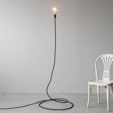 Lampadaire moderne en cuivre et coton fait main fabriqué en Italie - Guapa