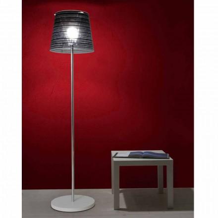 Lampe du sol abat-jour antireflet et décoration colorée H183cm, Shana