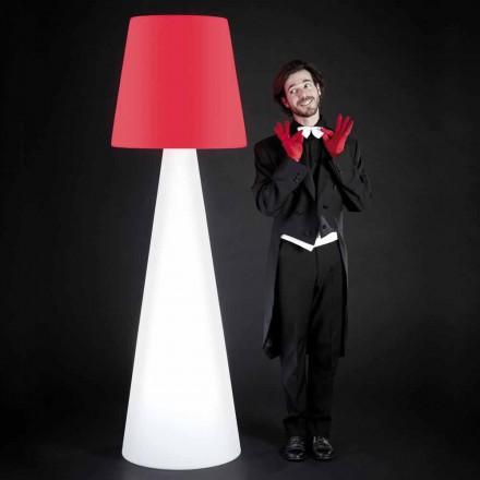 Lampadaire design d'intérieur blanc Slide Pivot, fabriqué en Italie