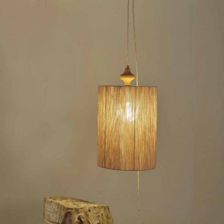 Lampadaire en bois et 100% laine Bois, de design moderne
