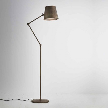 Lampe industrielle sur pied en fer Reporter Il Fanale