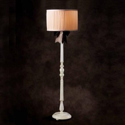 Lampe de sol de design vintage en soie couleur ivoire Chanel