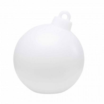 Lampe de décoration intérieure ou extérieure rouge, boule de Noël blanche - Pallastar