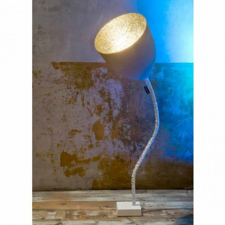 Lampadaire design In-es.artdesign Flower Ciment peint