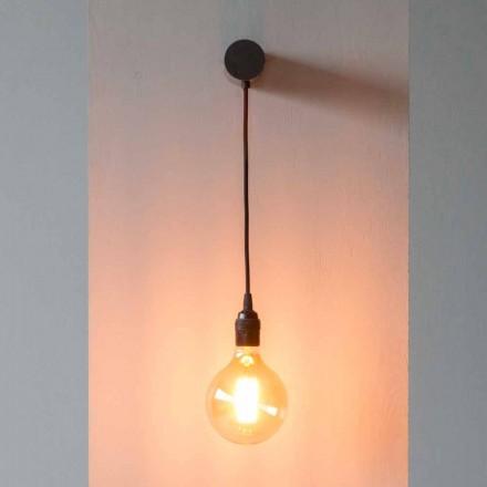 Lampe design en fer noir avec câble en coton Made in Italy - Cladia