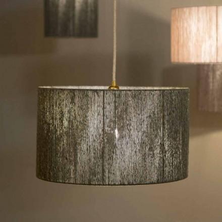 Lampe design à suspension d.45 en laine produite en Italie Evita