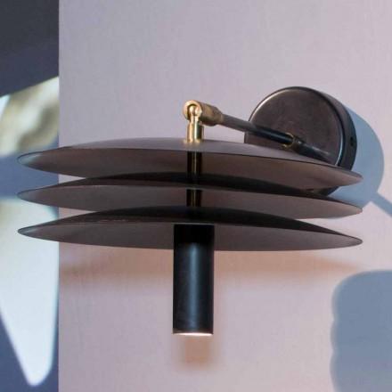 Lampe artisanale en fer avec acidification foncée avec LED Made in Italy - Solano