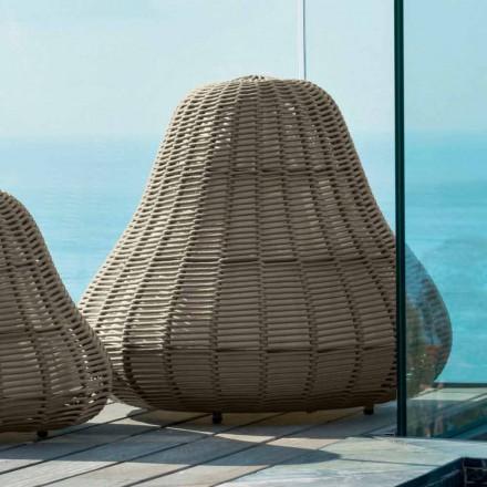 Lampe design Jackie grande Talenti pour jardin en corde synthétique