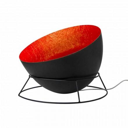 Lampe en acier et nébulite du sol In-es.artdesign H2o F coloré