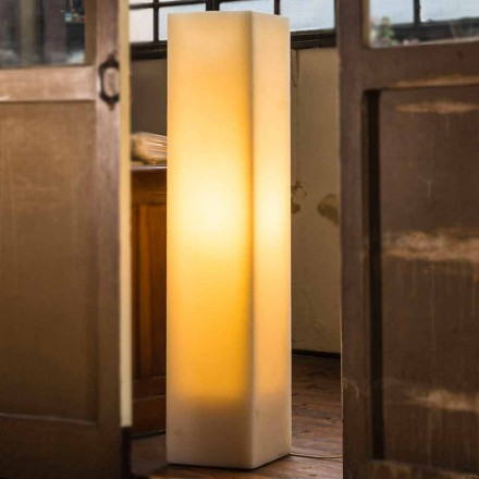Lampe en cire à effet rayé élevé et design Made in Italy - Dalila