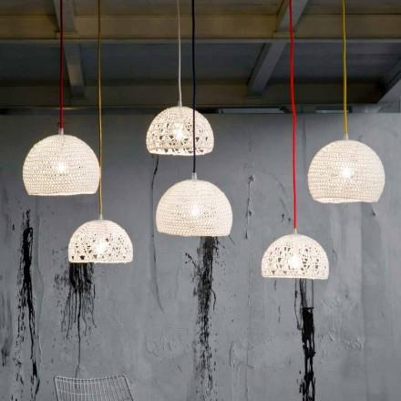 Lampe en coton et viscose suspendue In-es.artdesign Texture moderne