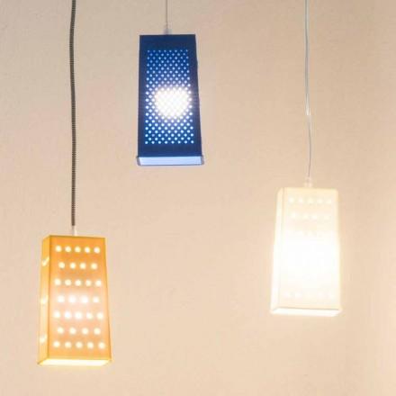 Lampe à suspension en laprène In-es.artdesign Cacio & Pepe 2 colorés