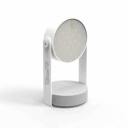 Lampe de table d'extérieur LED, aluminium blanc ou graphite - Tofee par Talenti