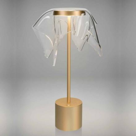 Lampe LED tactile en métal coloré et plexiglas transparent - Tagalong
