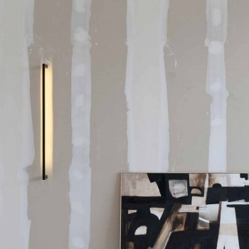 Applique murale moderne faite à la main en fer noir Made in Italy - Pamplona