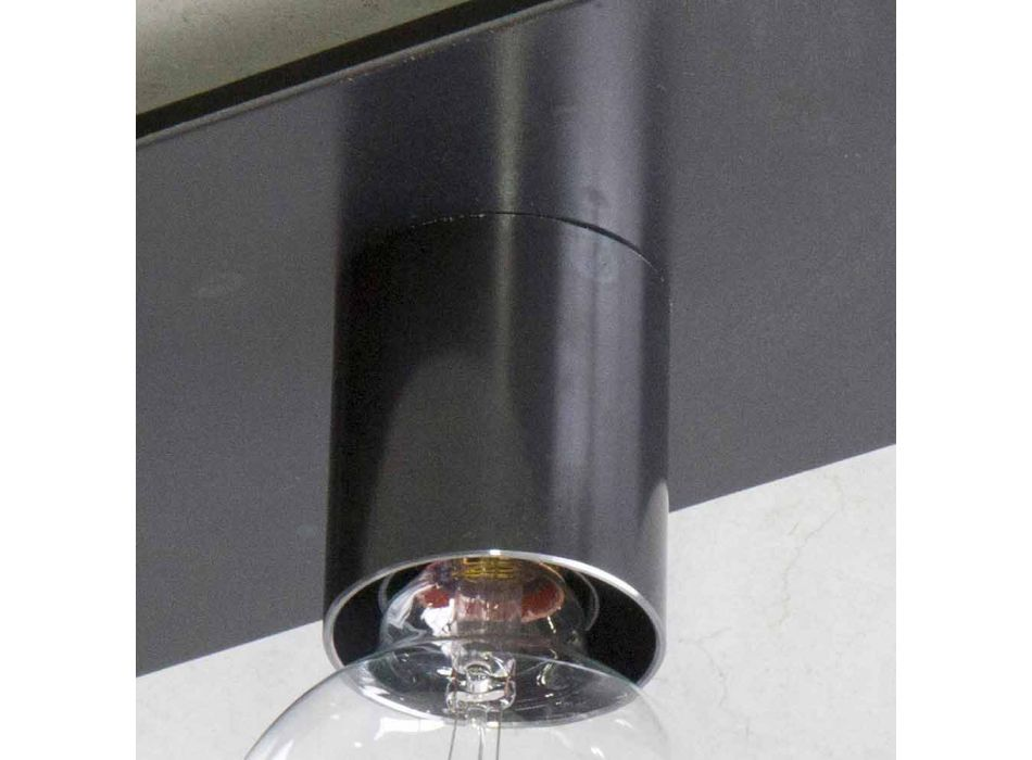 Lampe artisanale moderne en fer noir ou Corten Made in Italy - Alabama