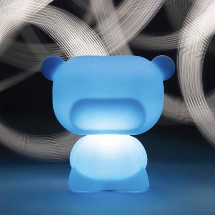 Lampe de table lumineuse en forme d'ours Slide Pure, produite à 100% en Italie