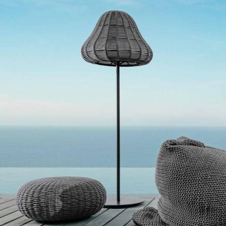 Lampe de sol design moderne Jackie by Talenti, en corde synthétique