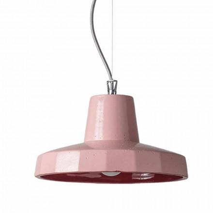 Suspension de 30cm en laiton et maiolica toscane, Rossi Toscot