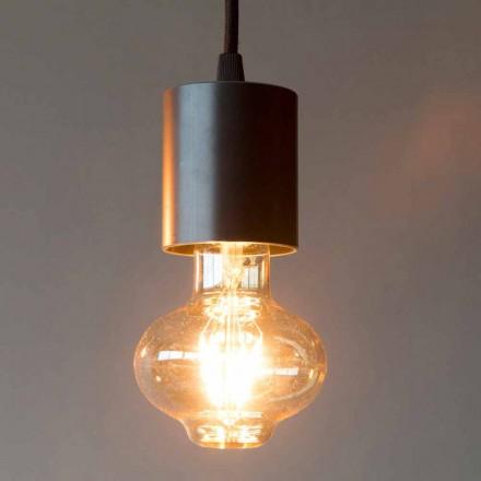 Lampe à suspension en fer fabriquée à la main avec câble en coton fabriqué en Italie - Frana