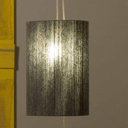 Lampadaire / suspension en laiton et laine fabriqué en Italie Evita