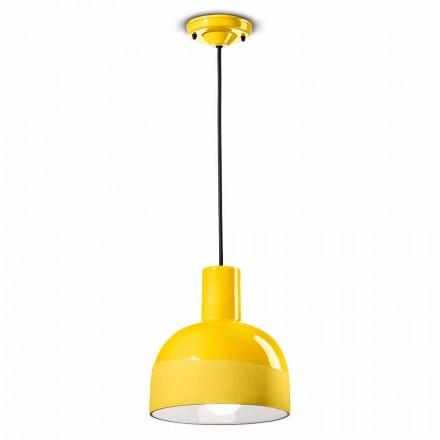Lampe suspendue de style moderne en céramique fabriquée en Italie - Ferroluce Caxixi