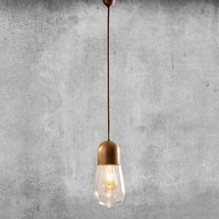 Lampe Suspendue Design Vintage en Laiton et Verre – Guinguette Aldo Bernardi