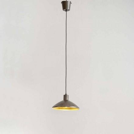 Lampe Suspendue en Acier Vieilli Diamètre 310 mm – Matière Aldo Bernardi