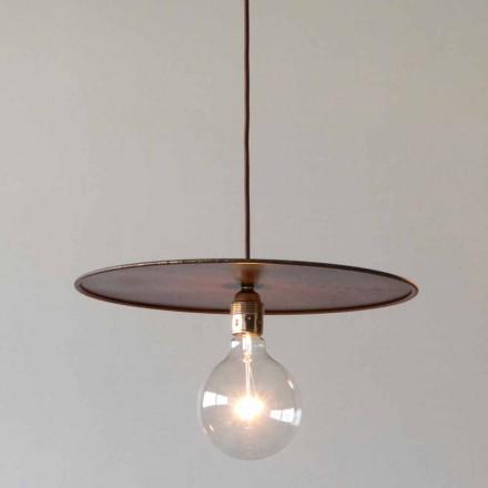 Lampe suspendue en fer avec cordon en coton artisanal Made in Italy - Ufo